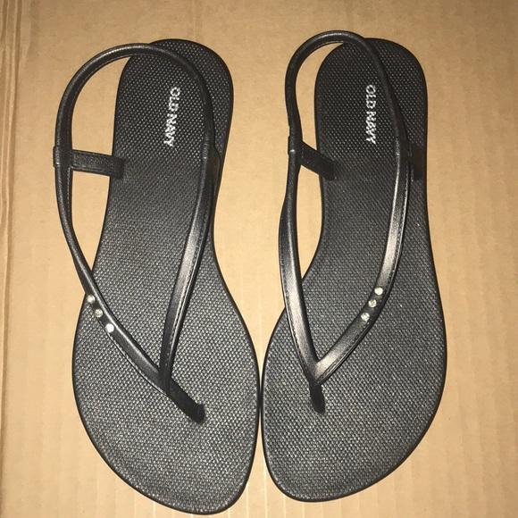 069223ff0a6 Old Navy Black W Rhinestones Size 6 Strap Sandals
